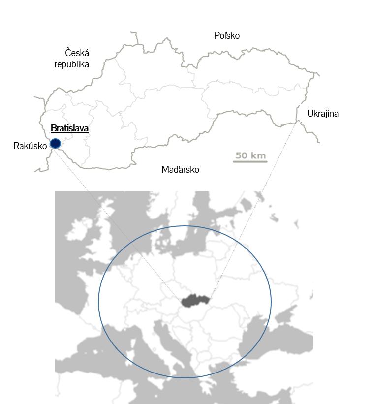 Lokalita geograf umiestnenie Slovpack
